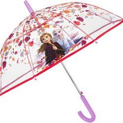 Parapluie Cloche Transparent Disney Frozen 2 Enfant | Solide et Coupe Vent | Par