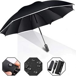 Parapluie Xnuoyo-Inversé Compact de Golf à Ouverture et Fermeture Auto