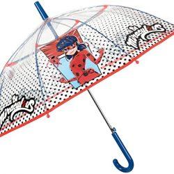 Parapluie Cloche Transparent Miraculous Ladybug Enfant | Automatique F