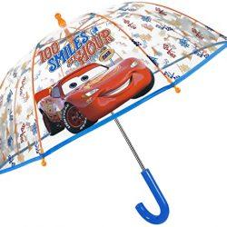 Parapluie Cloche Transparent Cars Enfant | Solide et Résistant au Vent | Paraplu