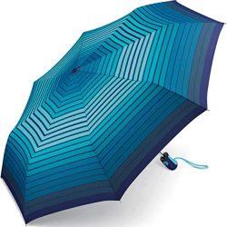 Parapluie Femme Easymatic Light Gradient Stripe Parasol de Poche Bleu Bleu 97 cm