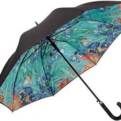 Parapluie Femme Von LIILENFELD® Automatique Homme Motif Art Floral Vincent Van G