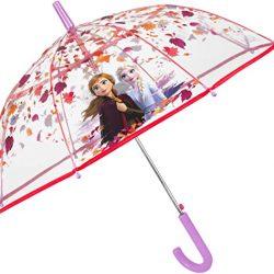 Parapluie Enfant Canne Transparent Disney La Reine des Neiges 2 Enfant – Long