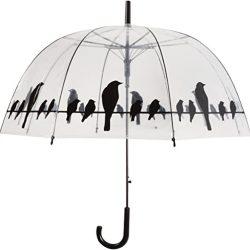 Parapluie Le Monde du TP166CLOCHEOISEAUX Cloche Transparent, 82 cm