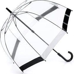 Parapluie Homme Cannes, Black & WhiteTrim (Transparent) | L041 Black & White Trim