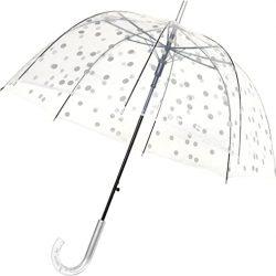 Parapluie Enfant Long – Transparent – Forme Cloche – Ouverture Automatique – 8 Baleines