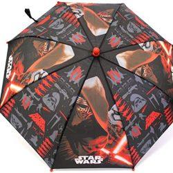 Parapluie Enfant enfants imprimé Panel s – Noir & Rouge – tailles UK 1-1