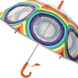 Parapluie Enfant Enfant Transparent Cloche – Bordure Fluorescente – Anti-Vent – 8 Balei