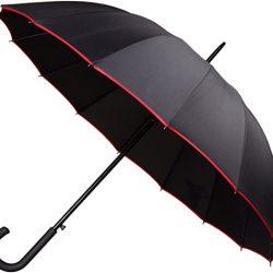 Parapluie Homme PL304 | Rubber canne, 101 cm, Rouge/Rose/Bleu/Gris *Coloris